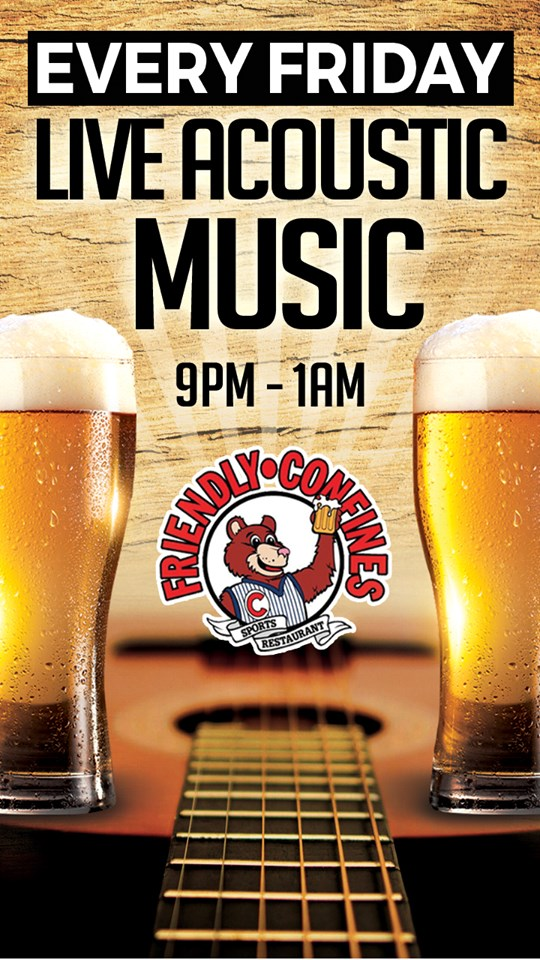 Live music every Friday night at friendly confines winter park