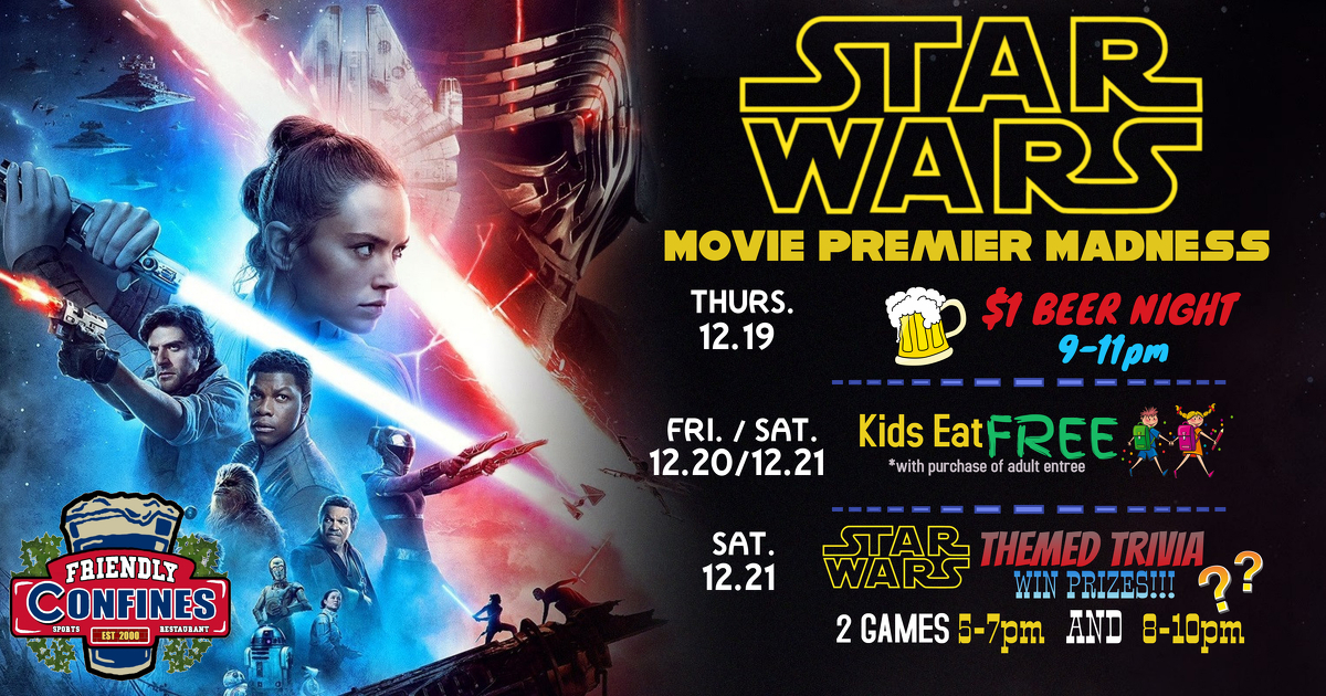 Star Wars Movie Premiere Madeness at Altamonte My Friendly Confines Restaurant and Bar